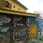 The outside facade and grafitti
