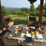 Breakfast on the Side Patio