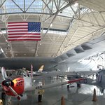 Spruce Goose accompanied by an array of aircraft of the 20th century.
