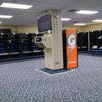 The visitor's locker room