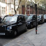 Taxis in front of the hotel