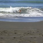 Surf is up for miles along one of the top surfing beaches in Costa Rica and it is right outside