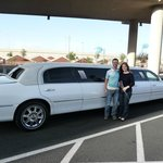 Outside view of our Super Stretch Limo