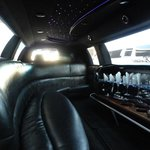 Inside of our Super Stretch Limo