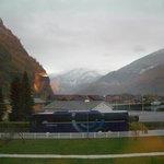 部屋からの眺め、雪が降った翌朝