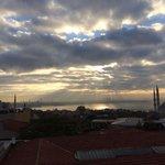 Sunrise from breakfast terrace.
