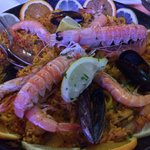 Basil's fish and seafood paella