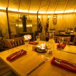 Fine Yurt Dining at the Magic Meadows Yurt