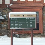 Entrada no parque de Banff - Taxas