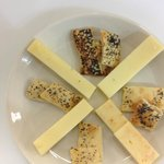 Our Cheese board with house made crackers