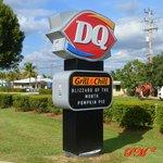 DQ's roadside sign.