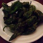 Fried Padron peppers with Maldon salt