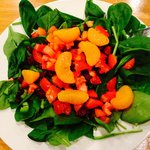 They'll let you choose your salad ingredients! Spinach,tomatoes, peppers, mandarin oranges, cran