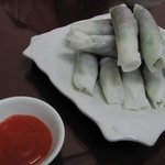 Pho Cuon-noodle rolls with three leaves