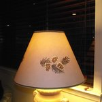 cute lampshade with small holes that let the light through