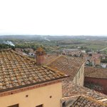 Tile roofs and Tuscan contryside.