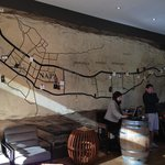 Map of Napa Valley at the concierge desk (it's a barrle)