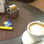 Great coffee that morning before the train to Genova Nervi, free wifi