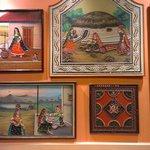 Inside back wall - nice artwork from Gujarat, India