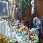 Ofrenda alusiva al día de muertos