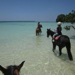 horseriding in front of our bungalows
