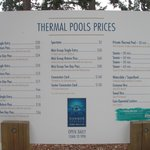 The price board