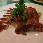 great white fish in asian sauce