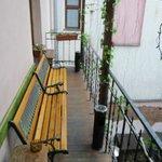 Smoking area. Smaller patio