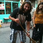Polat, man of many wonders, also  handy with a broom!