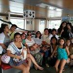 En el ferry rumbo a la isla de Ometepe