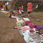 The 'souvenir' shop (the Maasai village market)