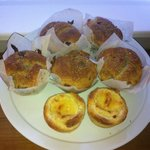 Raspberry muffins fresh from the oven