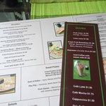 Green Mango's menu