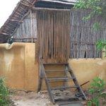 The doorway to the hut