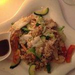 Cơm chiên gà: Fried rice with chicken