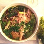 Phở gà: The famous Vietnamese national dish. Mildly spiced chicken soup and fresh herbs
