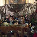 クリスマスに訪れたので、聖堂内には、キリスト生誕を表現している人形のジオラマが飾ってありました