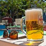 Lager by the pool