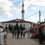 Pleintje met een moskee.