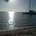 amanecer desde la alberca a la playa