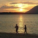 Sonnenuntergang Blick vom Strand