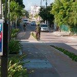 Велосипедная дорожка вдоль 10-й авеню в центре города