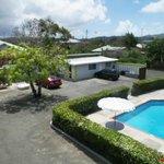 Carpark/pool area