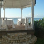 Our sunset massage gazebo on the beach