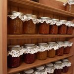 A good harvest = lots of preserves and condiments
