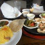 chicken fajita plate small size
