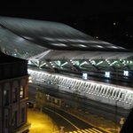 Liege Gilimiouns  train station at night -  from the room.