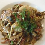 Pasta with west coast scallops