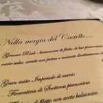 uno dei tanti menu de L'Antico Sapore