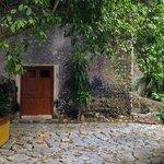 Scene on the patio of Casa patron